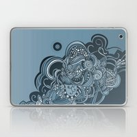 Detailed diagonal tangle, blue Laptop & iPad Skin