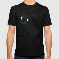 Pug - Cute Dog Series Mens Fitted Tee Tri-Black SMALL