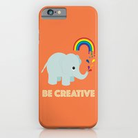 iPhone Cases featuring Be Creative by Aubergine & Purple