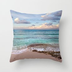 Caribbean sundown Throw Pillow
