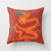 Dragon Quetzalcoatl Throw Pillow