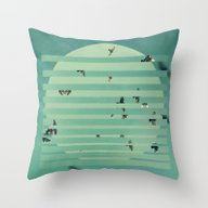 Fractions 02 Throw Pillow