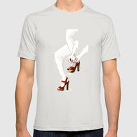 Red Shoes Mens Fitted Tee Silver SMALL