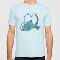 Octopus ! Mens Fitted Tee Light Blue SMALL