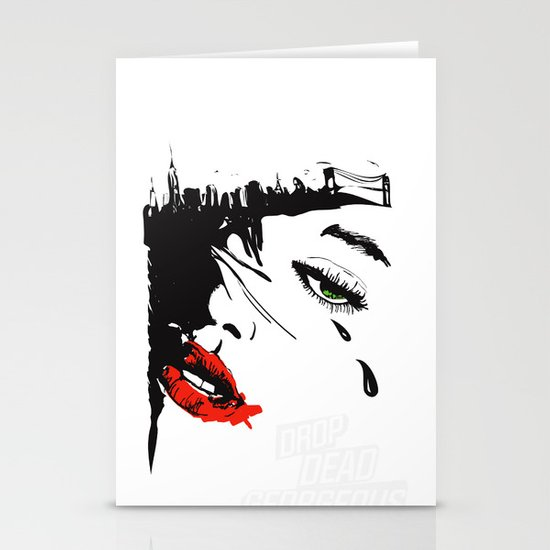 drop dead gorgeous - femme fatale Stationery Card