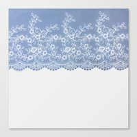 Lace #Blue Canvas Print