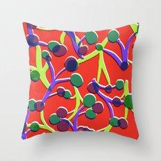 Orange floral. Throw Pillow