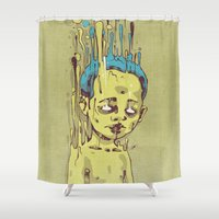 The Golden Boy With Blue… Shower Curtain