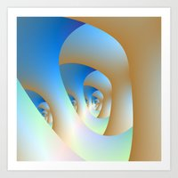 Blue Labyrinth Art Print