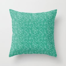 Schoolyard Aviation Green Throw Pillow