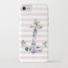 FLORAL ANCHOR IN PINK iPhone 7 Slim Case