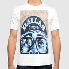 Dallas Strong Mens Fitted Tee White SMALL