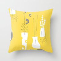 Modplants Throw Pillow