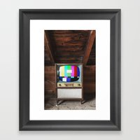 Test Pattern Television Framed Art Print