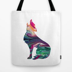 swirly wolf Tote Bag