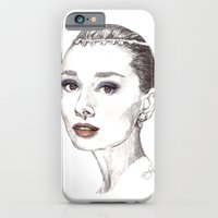 iPhone & iPod Case featuring Audrey Hepburn by HOMartistry