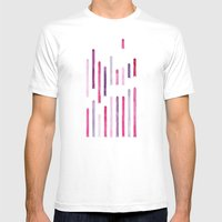 Cotton Candy Arrows Mens Fitted Tee White SMALL