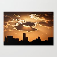 Sunset over NYC Canvas Print