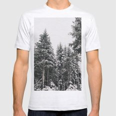 Snowy Paradise Ash Grey SMALL Mens Fitted Tee