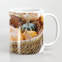 Fresh Pumpkin In Basket Mug