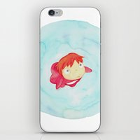 Ponyo Watercolor iPhone & iPod Skin