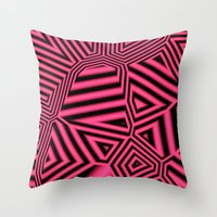 Black And Pink Abstract Throw Pillow