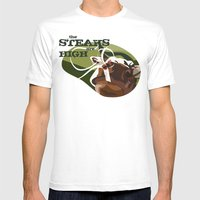 Steaks Are High Mens Fitted Tee White SMALL