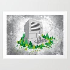 Keyboard City Art Print