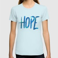 Hope Womens Fitted Tee Light Blue SMALL
