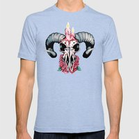 Oscuro Mens Fitted Tee Tri-Blue SMALL