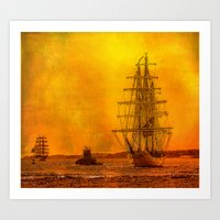 Tall Ships - Morning Of … Art Print