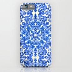 Cobalt Blue & China Whit… iPhone 6 Slim Case