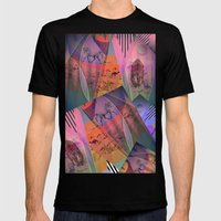 DISTORTED BOUNDARIES Mens Fitted Tee Black SMALL