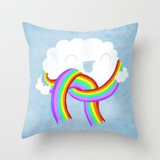 Mr clouds new scarf Throw Pillow