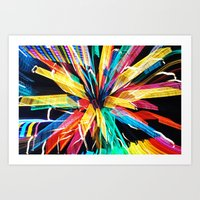 Urban Explosion Art Print