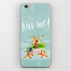 The frog prince iPhone & iPod Skin