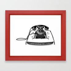 Phone on Cushion. Framed Art Print