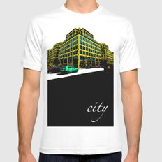 Berlin City Mens Fitted Tee White SMALL