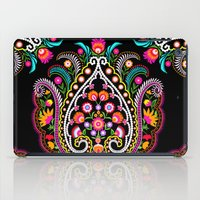 folk damask iPad Case