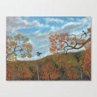 Magpie Woods Canvas Print