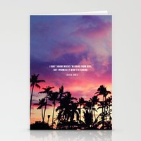 1980's Sunset And Quote Stationery Cards