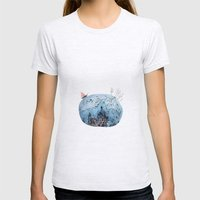 BRIDGES AND BALLOONS Womens Fitted Tee Ash Grey SMALL
