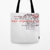 Calligraphic poster IV Tote Bag
