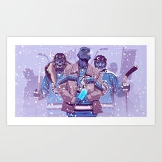 WW HOCKEY TEAM Art Print