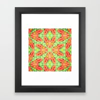 Sphynx Cat Pattern Framed Art Print