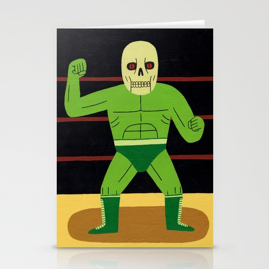 The Glowing Skull Stationery Card