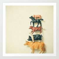 Animal Antics Art Print