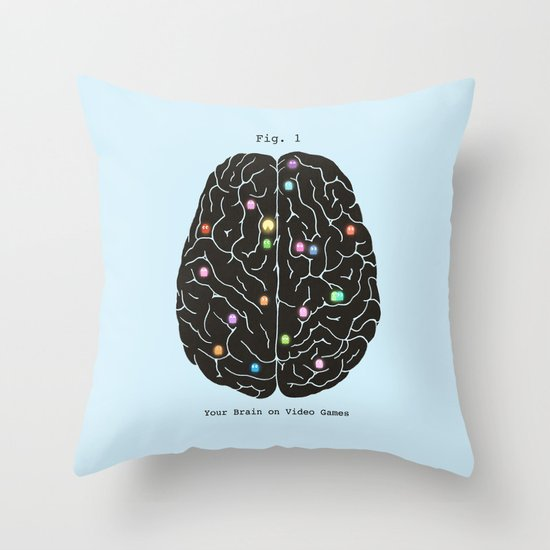 Your Brain On Video Games Throw Pillow