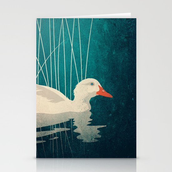Duck Reflected Stationery Card