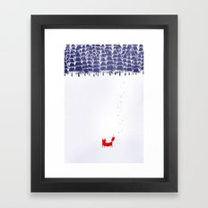 Alone in the forest Framed Art Print